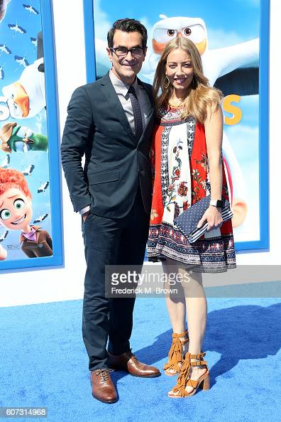 Actor Ty Burrell and Holly Burrell arrive at the premiere of Warner Bros Pictures' 'Storks' at Regency Village Theatre on September 17 2016 in...