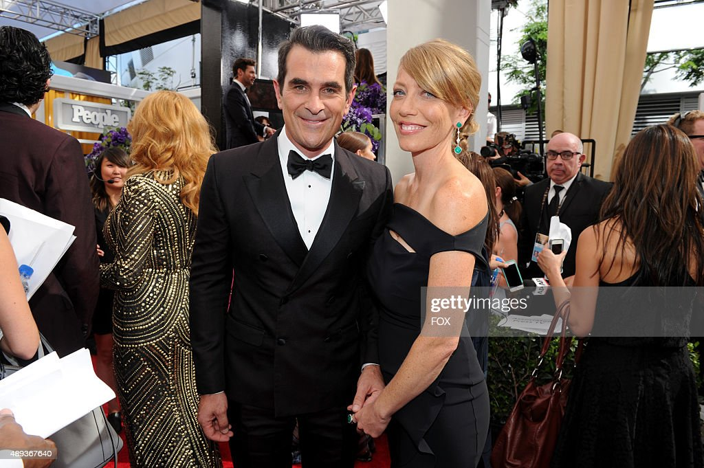 Actor Ty Burrell and Holly Burrell attend the 67th Annual Primetime Emmy Awards at Microsoft Theater on September 20 2015 in Los Angeles California