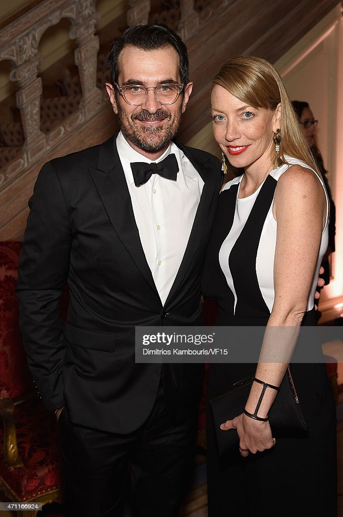 Actor Ty Burrell and Holly Burrell attend the Bloomberg Vanity Fair cocktail reception following the 2015 WHCA Dinner at the residence of the French...