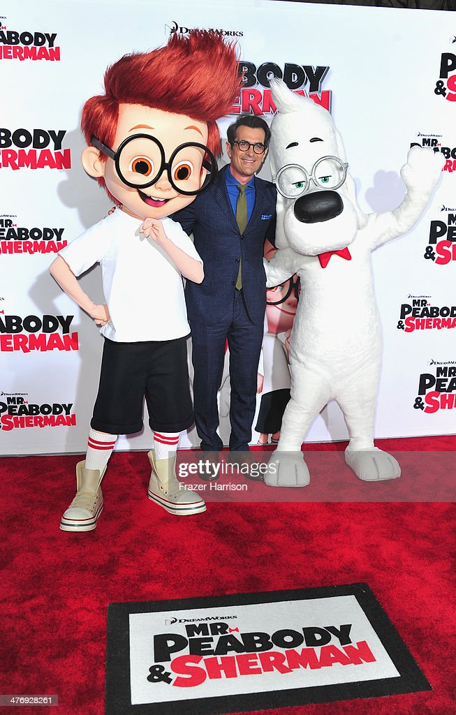 Actor <a gi-track='captionPersonalityLinkClicked' href=/galleries/search?phrase=Ty+Burrell&family=editorial&specificpeople=700077 ng-click='$event.stopPropagation()'>Ty Burrell</a> arrives at the Premiere of Twentieth Century Fox and DreamWorks Animation's 'Mr. Peabody & Sherman' at Regency Village Theatre on March 5, 2014 in Westwood, California.