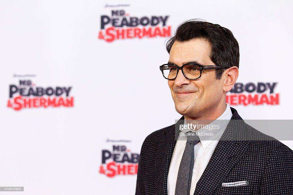 Actor Ty Burrell arrives for the Sydney Premiere of 'Mr Peabody Sherman' at Fox Studios on February 23 2014 in Sydney Australia