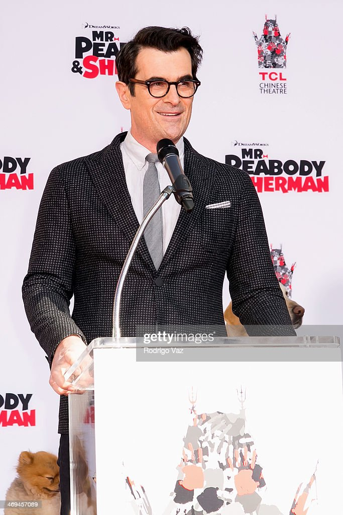 Actor Ty Burrell attends as Mr Peabody is honored at TCL Chinese Theater IMAX with an installation pawprint ceremony at TCL Chinese Theatre on...