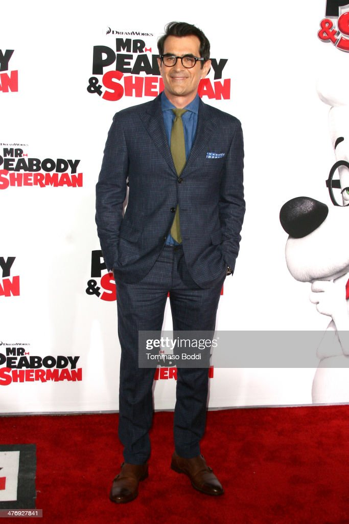 Actor <a gi-track='captionPersonalityLinkClicked' href=/galleries/search?phrase=Ty+Burrell&family=editorial&specificpeople=700077 ng-click='$event.stopPropagation()'>Ty Burrell</a> attends the 'Mr. Peabody & Sherman' Los Angeles premiere held at the Regency Village Theatre on March 5, 2014 in Westwood, California.