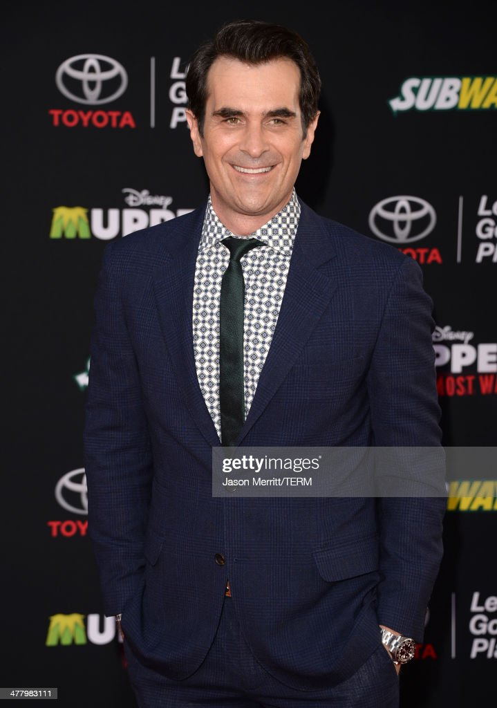 Actor Ty Burrell attends the premiere of Disney's 'Muppets Most Wanted' at the El Capitan Theatre on March 11 2014 in Hollywood California