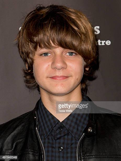 Actor Ty Simpkins arrives at 'Carrie The Killer Musical Experience' Opening Night Red Carpet at Los Angeles Theatre on October 8 2015 in Los Angeles...
