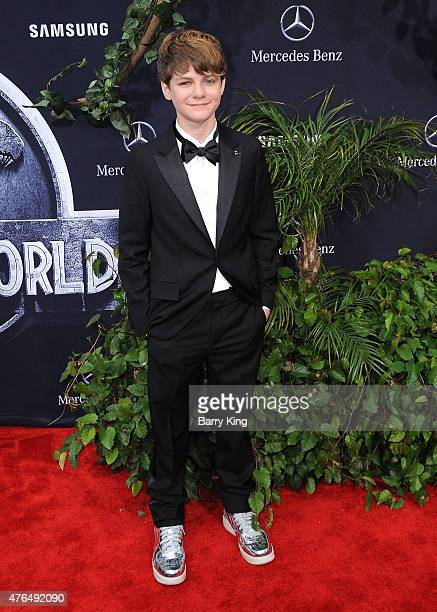 Actor Ty Simpkins arrives at Universal Pictures World Premiere of 'Jurassic World' at Dolby Theatre on June 9 2015 in Hollywood California