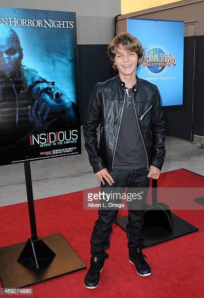 Actor Ty Simpkins arrives for Universal Studios Hollywood's Opening Night Celebration Of 'Halloween Horror Nights' held at Universal Studios...