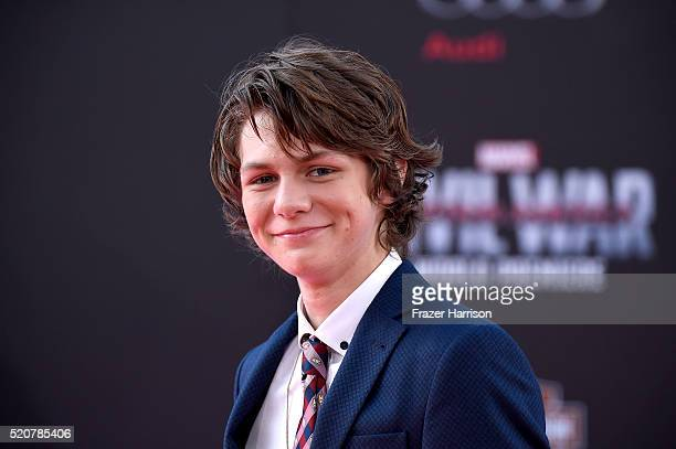 Actor Ty Simpkins attends the premiere of Marvel's 'Captain America Civil War' at Dolby Theatre on April 12 2016 in Los Angeles California