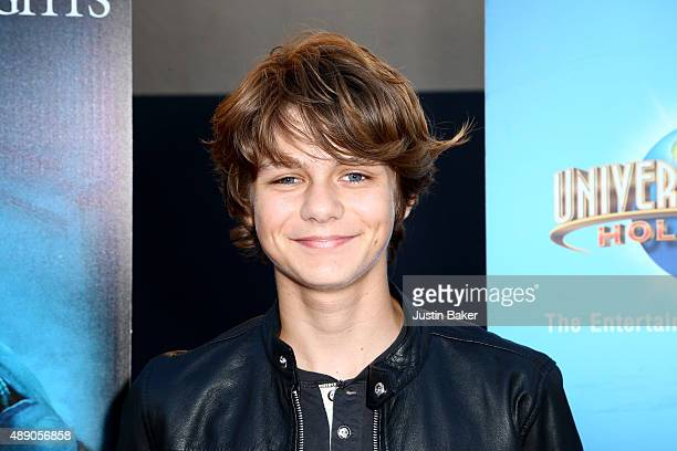 Actor Ty Simpkins attends Universal Studios Hollywood's opening night celebration of 'Halloween Horror Nights' at Universal Studios Hollywood on...