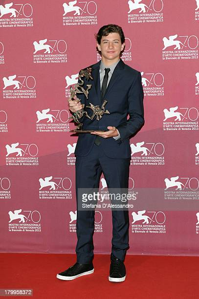 US actor Tye Sheridan attends Award Winners Photocall during the 70th Venice International Film Festival at Palazzo del Casino on September 7 2013 in...