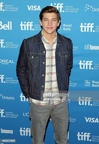 Actor Tye Sheridan attends 'The Forger' Press Conference during the 2014 Toronto International Film Festival at TIFF Bell Lightbox on September 12...