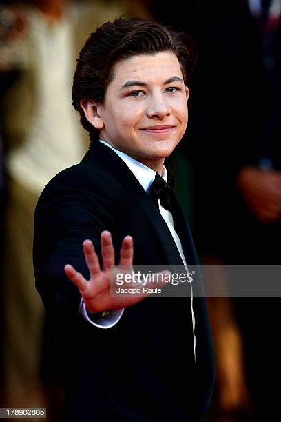 Actor Tye Sheridan attends the 'Joe' Premiere during The 70th Venice International Film Festival at Palazzo del Cinema on August 30 2013 in Venice...
