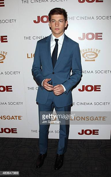 Actor Tye Sheridan attends the Lionsgate Roadside Attractions with The Cinema Society premiere of 'Joe' at Landmark's Sunshine Cinema on April 9 2014...