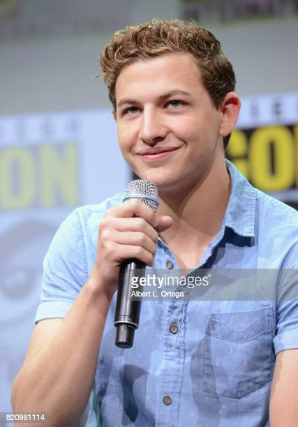 Actor Tye Sheridan attends the Warner Bros Pictures 'Ready Player One' Presentation during ComicCon International 2017 at San Diego Convention Center...
