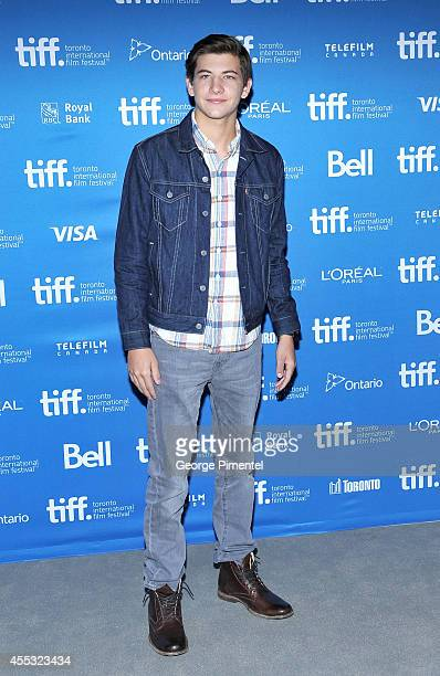 Actor Tye Sheridan poses during 'The Forger' Press Conference during the 2014 Toronto International Film Festival at TIFF Bell Lightbox on September...