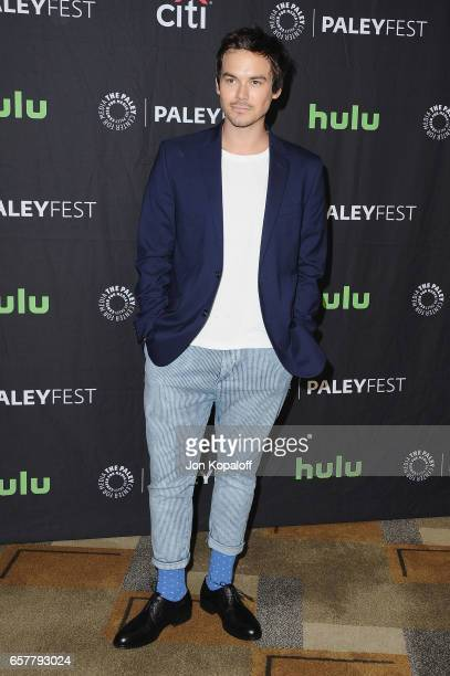Actor Tyler Blackburn arrives at The Paley Center For Media's 34th Annual PaleyFest Los Angeles 'Pretty Little Liars' at Dolby Theatre on March 25...