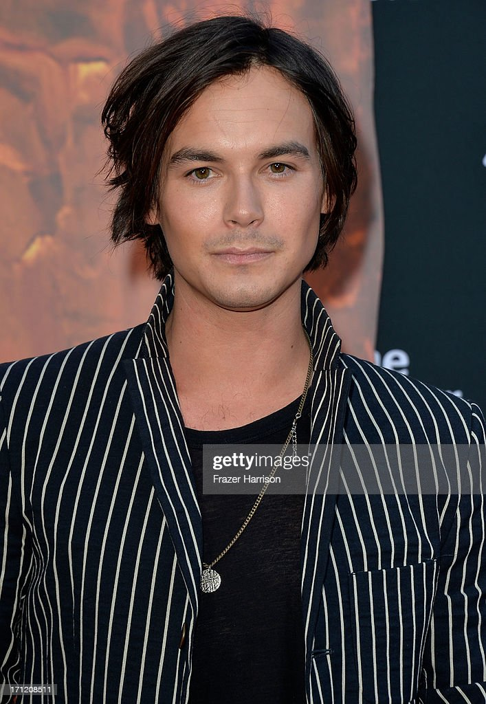 Actor Tyler Blackburn arrives at the premiere of Walt Disney Pictures' 'The Lone Ranger' at Disney California Adventure Park on June 22, 2013 in Anaheim, California.