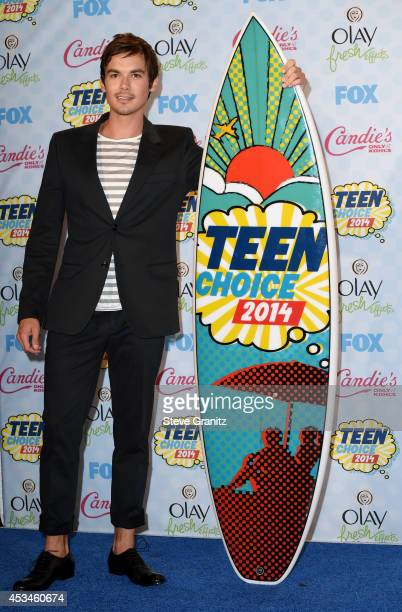 Actor Tyler Blackburn attends FOX's 2014 Teen Choice Awards at The Shrine Auditorium on August 10 2014 in Los Angeles California
