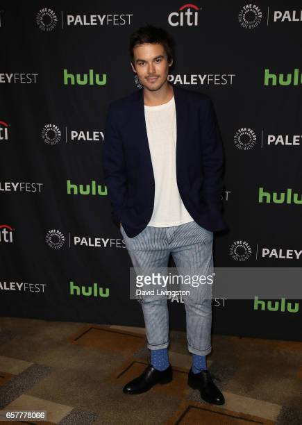 Actor Tyler Blackburn attends The Paley Center for Media's 34th Annual PaleyFest Los Angeles presentation of 'Pretty Little Liars' at Dolby Theatre...