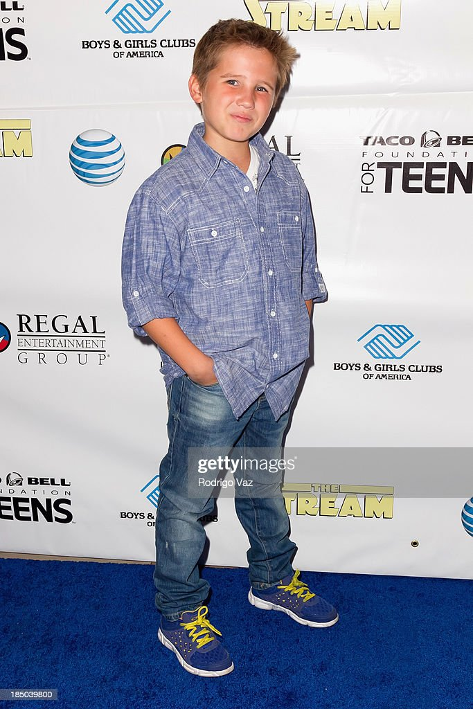 Actor Tyler Champagne attends 'The Stream' Premiere benefiting Boys & Girls Clubs of America at Regal 14 at LA Live Downtown on October 16, 2013 in Los Angeles, California.
