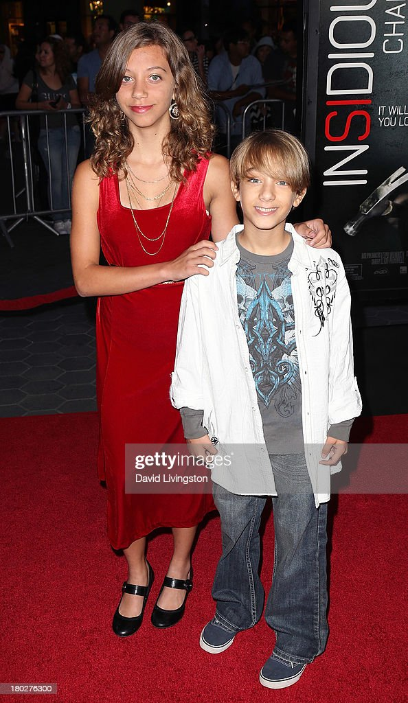 Actor Tyler Griffin (R) and sister actress Naomi Griffin attend the premiere of FilmDistrict's 'Insidious: Chapter 2' at Universal CityWalk on September 10, 2013 in Universal City, California.