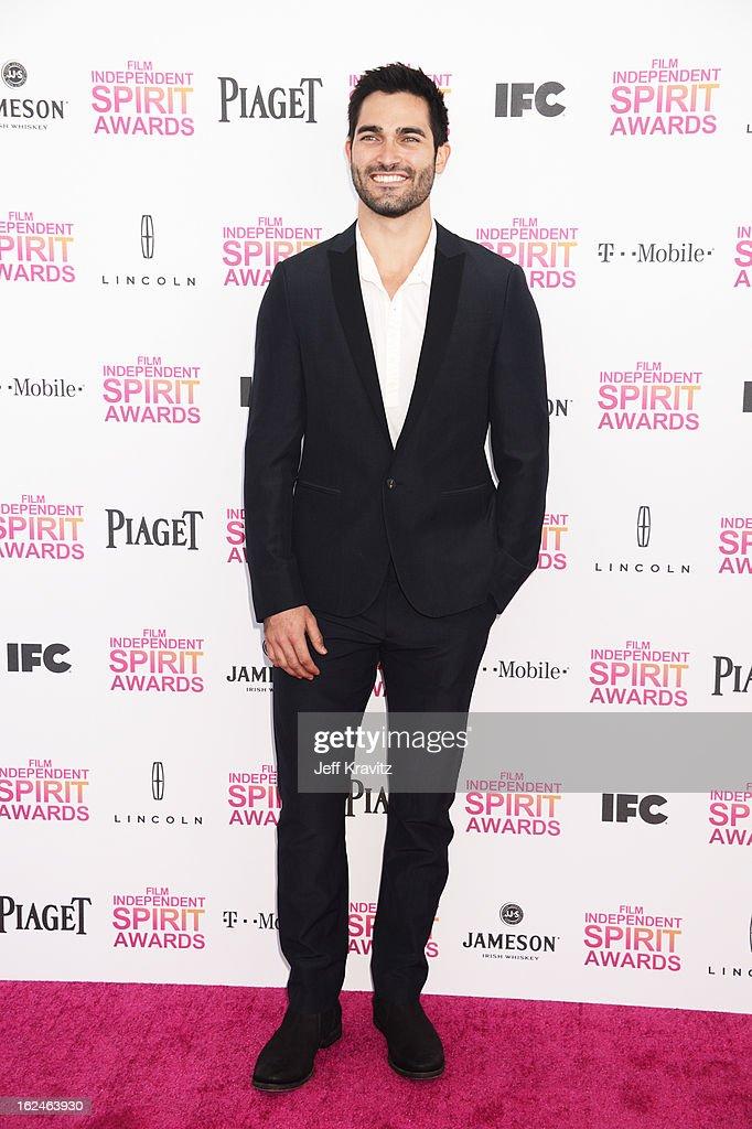 Actor Tyler Hoechlin attends the 2013 Film Independent Spirit Awards at Santa Monica Beach on February 23, 2013 in Santa Monica, California.