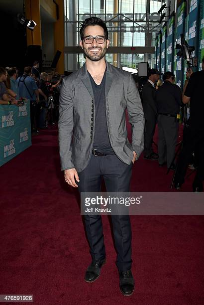 Actor Tyler Hoechlin attends the 2015 CMT Music awards at the Bridgestone Arena on June 10 2015 in Nashville Tennessee