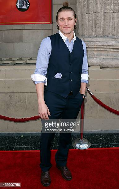 Actor Tyler Jacob Moore attends the Screening of ABC's 'Once Upon A Time' Season 4 at the El Capitan Theatre on September 21 2014 in Hollywood...