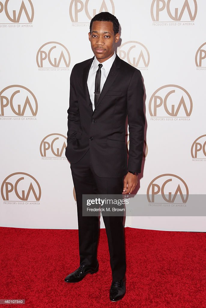 Actor Tyler James Williams attends the 26th Annual Producers Guild Of America Awards at the Hyatt Regency Century Plaza on January 24, 2015 in Los Angeles, California.