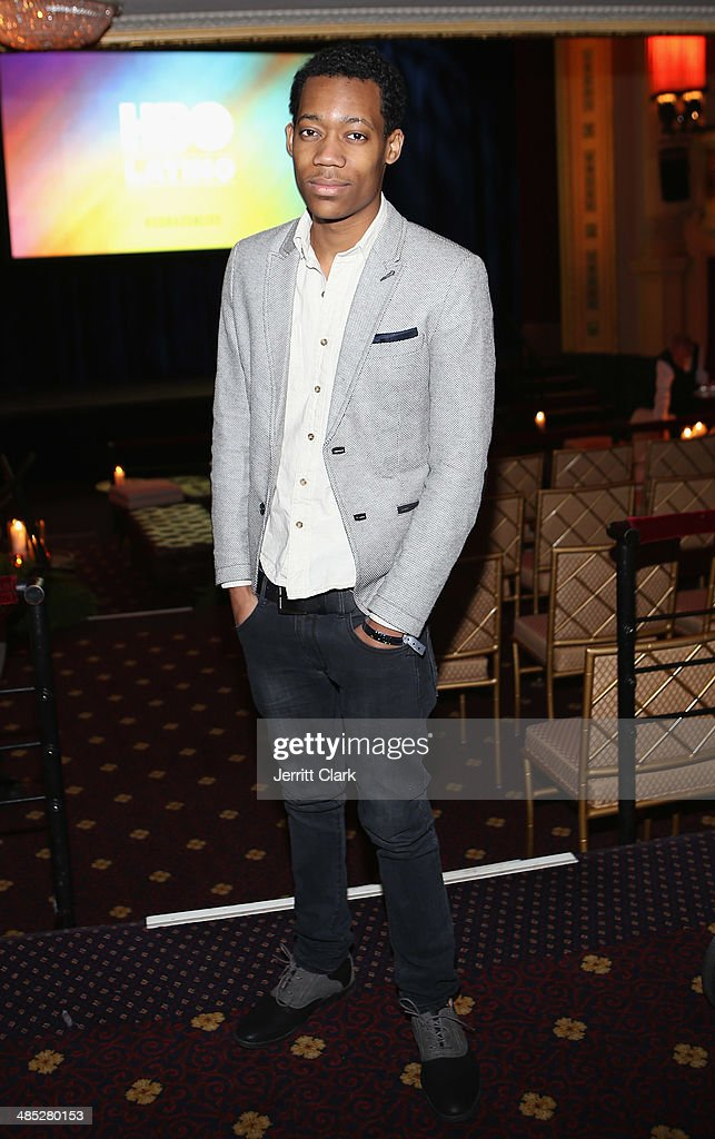 Actor Tyler James Williams attends the HBO Latino NYC Premiere of 'Santana: De Corazon' at Hudson Theatre on April 16, 2014 in New York City.