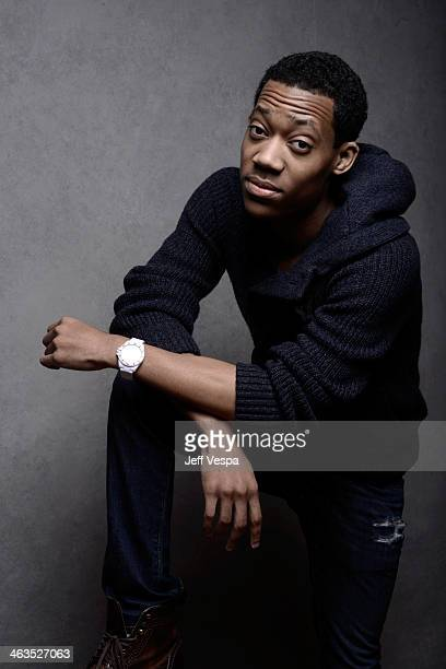 Actor Tyler James Williams poses for a portrait during the 2014 Sundance Film Festival at the WireImage Portrait Studio at the Village At The Lift...