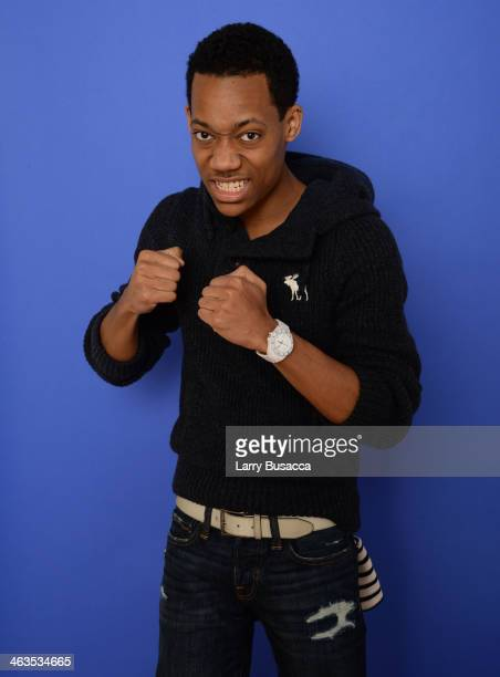 Actor Tyler James Williams poses for a portrait during the 2014 Sundance Film Festival at the Getty Images Portrait Studio at the Village At The Lift...