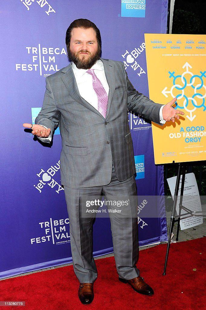 Actor <a gi-track='captionPersonalityLinkClicked' href=/galleries/search?phrase=Tyler+Labine&family=editorial&specificpeople=2301092 ng-click='$event.stopPropagation()'>Tyler Labine</a> attends the premiere of 'A Good Old Fashioned Orgy' during the 2011 Tribeca Film Festival at SVA Theater on April 29, 2011 in New York City.