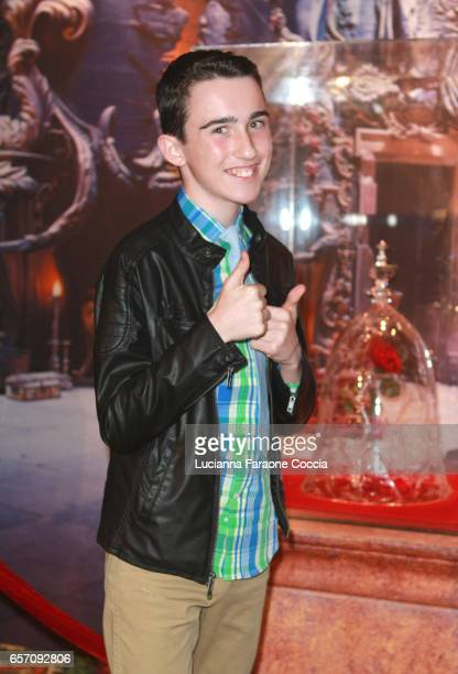 Actor Tyler Mazzei attends Red Walk special screening of Disney's 'Beauty And The Beast' at El Capitan Theatre on March 23 2017 in Los Angeles...