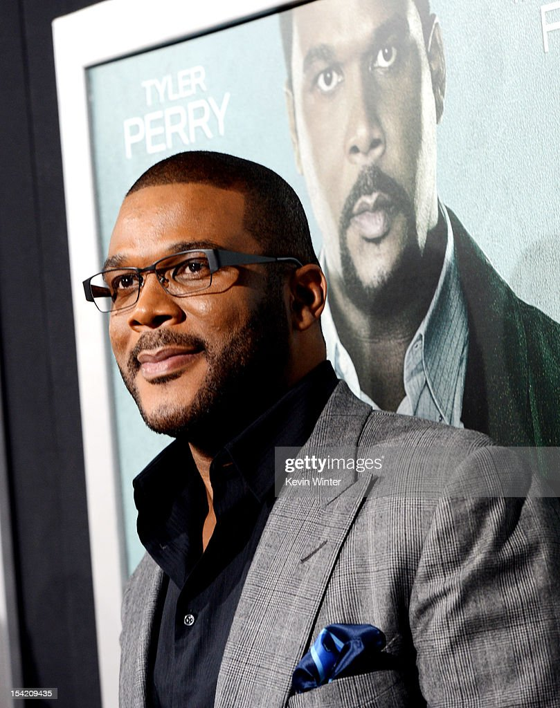 Actor <a gi-track='captionPersonalityLinkClicked' href=/galleries/search?phrase=Tyler+Perry&family=editorial&specificpeople=678008 ng-click='$event.stopPropagation()'>Tyler Perry</a> arrives at the premiere of Summit Entertainment's 'Alex Cross' at the Arclight Theater on October 15, 2012 in Los Angeles, California.
