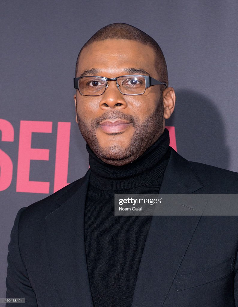 Actor Tyler Perry attends the 'Selma' New York Premiere at Ziegfeld Theater on December 14 2014 in New York City