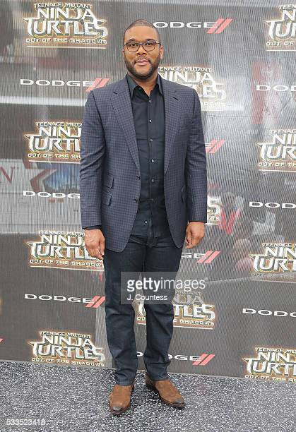 Actor Tyler Perry attends the 'Teenage Mutant Ninja Turtles Out Of The Shadows' World Premiere at Madison Square Garden on May 22 2016 in New York...