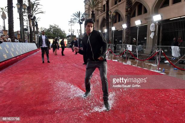 Actor Tyler Posey arrives at the 2017 MTV Movie and TV Awards at The Shrine Auditorium on May 7 2017 in Los Angeles California