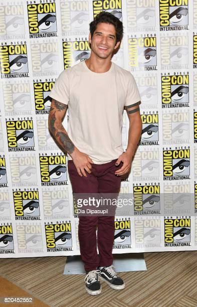 Actor Tyler Posey at the 'Teen Wolf' Press Line during ComicCon International 2017 at Hilton Bayfront on July 21 2017 in San Diego California