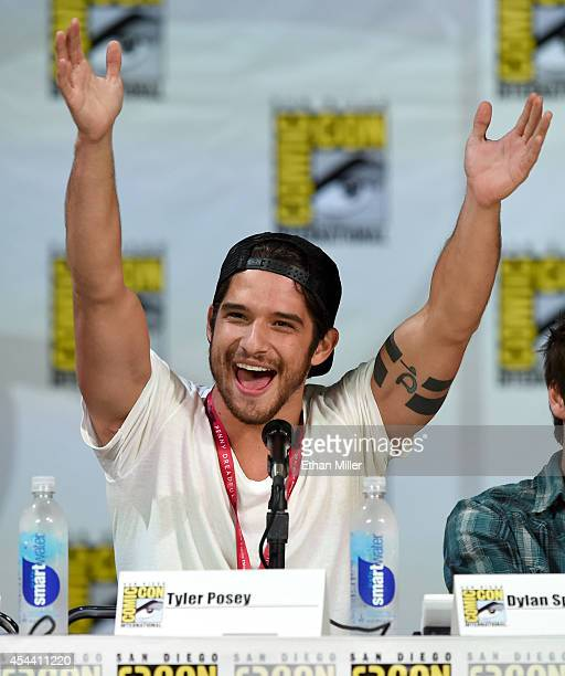 Actor Tyler Posey attends MTV's 'Teen Wolf' panel during ComicCon International 2014 at the San Diego Convention Center on July 24 2014 in San Diego...