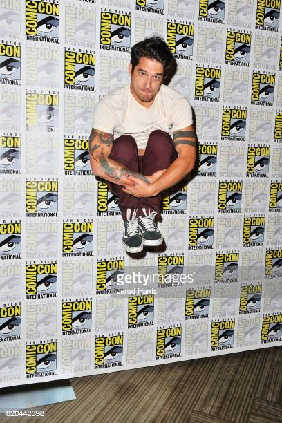 Actor Tyler Posey attends 'Teenwolf' press line at Comic Con on July 21 2017 in San Diego California