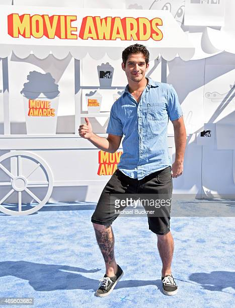 Actor Tyler Posey attends The 2015 MTV Movie Awards at Nokia Theatre LA Live on April 12 2015 in Los Angeles California