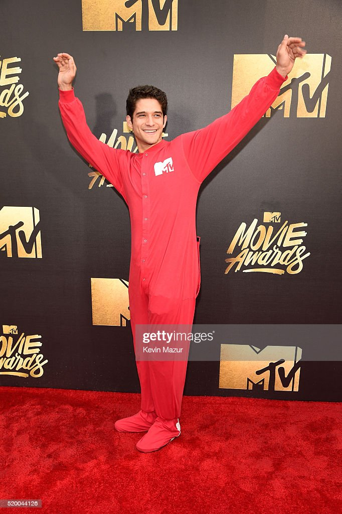 Actor Tyler Posey attends the 2016 MTV Movie Awards at Warner Bros Studios on April 9 2016 in Burbank California MTV Movie Awards airs April 10 2016...