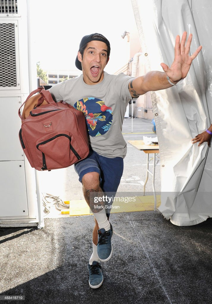 Actor <a gi-track='captionPersonalityLinkClicked' href=/galleries/search?phrase=Tyler+Posey&family=editorial&specificpeople=3201481 ng-click='$event.stopPropagation()'>Tyler Posey</a> attends the Backstage Creations Celebrity Retreat at Teen Choice 2014 - Day 1 on August 9, 2014 in Los Angeles, California.