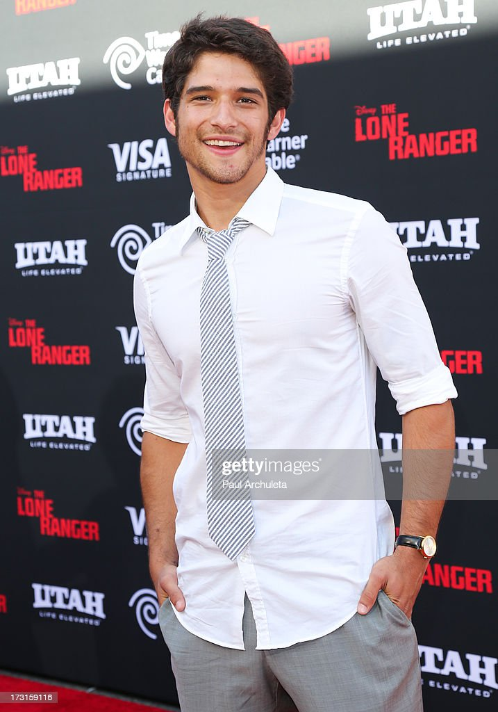 Actor <a gi-track='captionPersonalityLinkClicked' href=/galleries/search?phrase=Tyler+Posey&family=editorial&specificpeople=3201481 ng-click='$event.stopPropagation()'>Tyler Posey</a> attends 'The Lone Ranger' Los Angeles premiere at Disney California Adventure Park on June 22, 2013 in Anaheim, California.