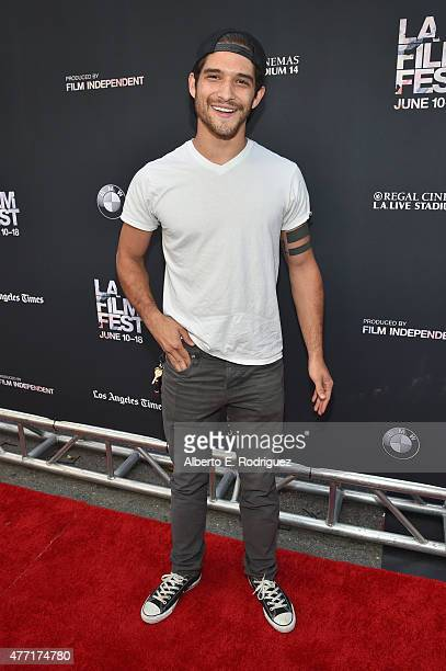 Actor Tyler Posey attends the MTV and Dimension TV premiere of 'Scream' at the Los Angeles Film Festival on June 14 2015 in Los Angeles California