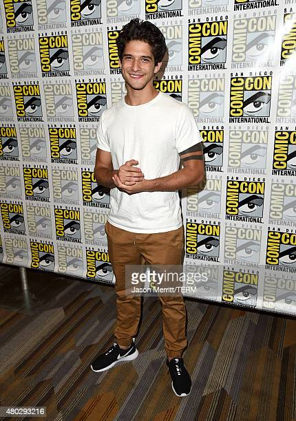 Actor Tyler Posey attends the 'Teen Wolf' press room during ComicCon International 2015 at the Hilton Bayfront on July 10 2015 in San Diego California