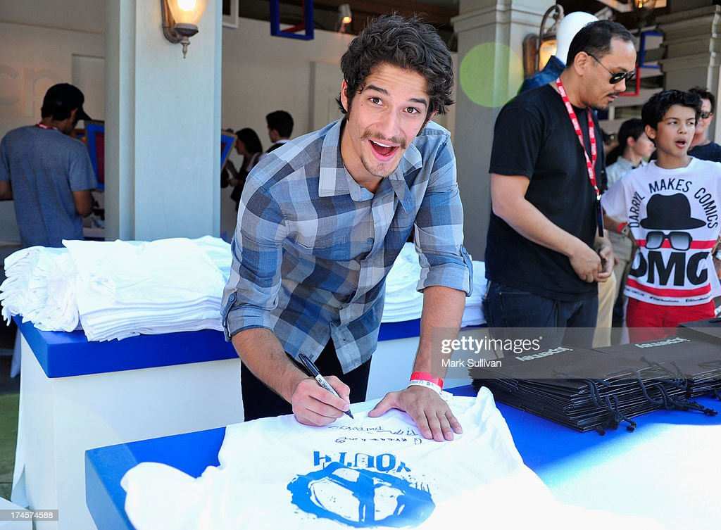 Actor <a gi-track='captionPersonalityLinkClicked' href=/galleries/search?phrase=Tyler+Posey&family=editorial&specificpeople=3201481 ng-click='$event.stopPropagation()'>Tyler Posey</a> attends Variety's Power of Youth presented by Hasbro, Inc. and generationOn at Universal Studios Backlot on July 27, 2013 in Universal City, California.