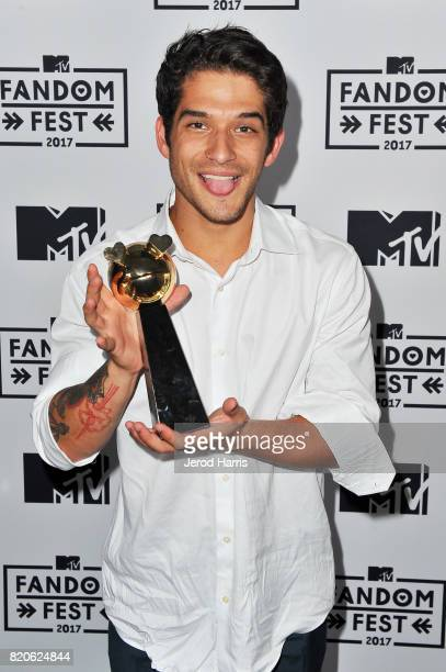 Actor Tyler Posey recipient of the Fandom Icon Award attends MTV Fandom Fest at PETCO Park on July 21 2017 in San Diego California