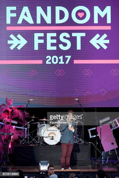 Actor Tyler Posey speaks onstage during MTV Fandom Fest at PETCO Park on July 21 2017 in San Diego California